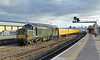 37057 and DBSO 9703 3Q64 1020 Canton Pullmans - Canton Pullmans via Gloucester and Swindon at Gloucester 01.02.2018 (1) (The Cwmbran Creature.) Tags: british class trains railways railway wales united kingdom 37 colas test train network rail gloucestershire golden valley nr