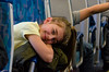Girl on the Train (Kevin MG) Tags: adolescent adorable blonde child childhood children cute fieldtrip girls kids little pretty resting school schoolgirls sleepy smile train yellow young youth aa