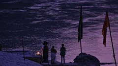 An evening at the Ganges (richard_fernando) Tags: twilight water hindus hindu religion religious rishikesh fire light indian india theganga theganges riverganga river ganga ganges day evening