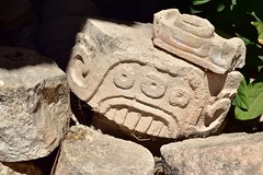 Relief from Kabah (orientalizing) Tags: 6001000ad altarofglyphs archaia architecture codzpoop codzpooppalace glyphs kabah mayaclassic mayan mexico northamerica palaceofthemasks puucstyle reliefs sculpture terminalclassic yucatan