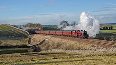 Cumbrian Red (DWH284) Tags: galatea 45699 jubileeclass460 wintercumbrianmountainexpress waitby uksteam drystonewall