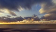 Cruising (Bruus UK) Tags: boobys padstow cornwall trevose contstantine seascape jet plane contrail clouds dusk sunset marine coast movement atlantic ocean livingcornwall