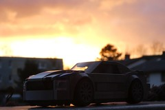 Sunset with a Mustang GT (captain_joe) Tags: toy spielzeug 365toyproject lego minifigure minifig moc car auto mustang gt sonne sunset sonnenuntergang