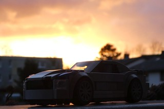Sunset with a Mustang GT