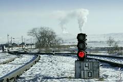 Hot signal ... (N.Batkhurel) Tags: railway railfan season station signal trainspotting darkhan red ubtz mongolia monrailpic ngc nikon nikond5200 24120mm
