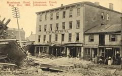 Johnstown Flood of 1889 - Merchants Hotel - Johnstown, Pennsylvania (The Cardboard America Archives) Tags: 1889 johnstown flood disaster cityinruins postcard pennsylvania vintage