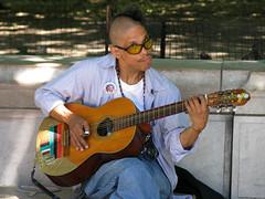 Guitar Man (Multielvi) Tags: new york ny nyc manhattan washington square park village man guitar music street musician performer obama greenwich