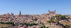 Panoramic of Toledo (chrisdingsdale) Tags: toledo panoramic cathedral alcazar town sightseeing architecture cityscape spain travel building europe landmark old cervantes greco medieval city spanish tourism unesco landscape famous ancient view european history tower historic castle hill heritage house river facade palace fortification culture castillalamancha stone panorama bridge scene daylight fortified lookout