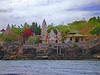 Hindu temple (oceanzam) Tags: temple hindu bali ganesh world worship pray blue color flowers trees garden light shore coast