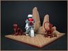 Across the Badlands (Karf Oohlu) Tags: lego moc vignette badlands droid robot walking