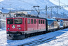 Saturday action: 51 years and six axles (1/2) (jaeschol) Tags: 705 eisenbahn elektrischelokomotive engadin europa ge66ii graubuenden grischuna jahreszeit kantongraubünden kontinent lokomotive rhb samedan schnee schweiz suisse switzerland transport transportunternehmen wetter winter chemindefer railroad railway graubünden ch