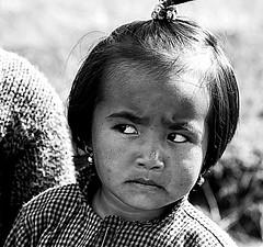 Staire! ,Shillong, India (senguptapulak) Tags: flickrunitedaward curious black white little girl meghalaya india flickr united