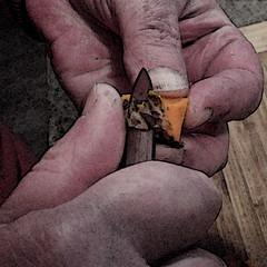 Peeling Turmeric (btusdin) Tags: hands peeling paring turmeric cooking