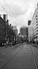 Tramway (HansPermana) Tags: denhaag thehague netherlands nederland niederlande city cityscape eu europa europe november 2017 oldtown monochrome blackandwhite
