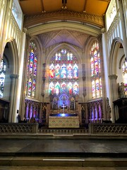 Altared image (BiggestWoo) Tags: colourful colour city yorkshire windows window glass stained altar church minster leeds