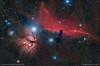 Horsehead and Flame Nebula - IC434 and NGC2024 (francesco.battistella) Tags: astrophotography astronomy astroatlas qhy qhy168c optolong lpro ha horsehead flame nebula space cmos orion astrometrydotnet:id=nova2383974 astrometrydotnet:status=solved