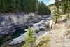 Kayak canyon (John Andersen (JPAndersen images)) Tags: alberta canyon elbowriver fall kananaskis karst mountains pond wedge