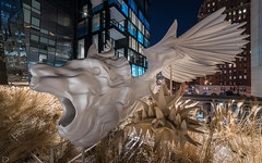Winged Lion (dansshots) Tags: dansshots nikon nikond750 nyc newyorkcity newyork newyorkatnight highline thehighline rokinon rokinon14mm wideangle lion