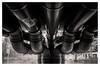 Drainage (jmvanelk) Tags: nikonf4s nikkor2835mm analog expiredfilm filmisnotdead fujineopan1600 drainage water pipes