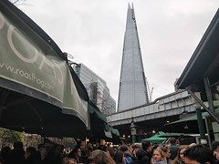Lounas paikassa Borough market ja illallinen taustalla näkyvässä Shardissa. Lontoo on syömiselle hyvä #boroughmarket #shard #aquashard