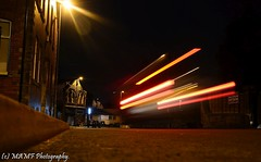 More aliens in Morley. (The friendly photographer.) Tags: mamf mamfphotography night lighttrails longexposure morley ls27 art nikon nikond7100 morleyleeds brilliantphoto excellentphoto amateur disabled photo photographer lighttrail motionblur motion movement urban westyorkshire leeds colour traffic cars uk unitedkingdom nighttime lowpov lowpointofview