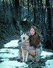 (Cristina Laugero) Tags: inverno cold husky lady wood bosco winter freeze freddo neve redhead