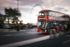 dash... (Vladimir Barvinek) Tags: street dash bus london routemaster doubledecker peak busy run red eye road westminster bridge traffic marylebone commute sky