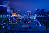 Night in Düsseldorf (Moustafa Kzaiha) Tags: night longexposure dusseldorf germany blue reflection lights sky buildings city boats europe outdoors calm hdr