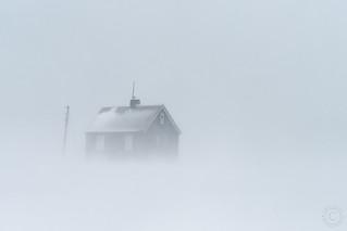 Hausastaðir in Snowstorm