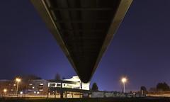 From the Perspective of the Troll (Robin Shepperson) Tags: beneath moabit berlin germany d3400 nikon dark bridge exposure long road graffiti lamps street city buildings