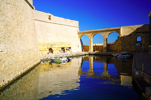 South wall of Fort St Angelo, Malta