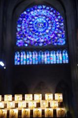 Notre Dame Cathedral (sarowen) Tags: notredamecathedral notredamedeparis notredame parisfrance paris france cathedral church stainedglass stainedglasswindow votives votive candle candles