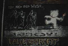 the mild mild west... (Jess Feldon) Tags: streetart banksy artist art bristol city streetphotography urban cool jessfeldon graffiti lookslikefilm mildmildwest edgy stokescroft streetframez