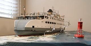 Diorama gull flight formation -SS Naushon, Rex Stewart