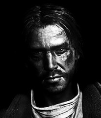 Battle Scars (Stachmo) Tags: battle scars rise tomb raider jacob lara croft reshade video game gaming screenshot digital art portrait monochrome contrast