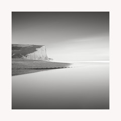 Once Upon a Time (GlennDriver) Tags: black white bw coast sea mono monochrome cliff canon nd long exposure tranquil peaceful uk sussex england