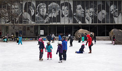 Skating Beneath the Greats (Explore) (jeffcbowen) Tags: toronto skating devoniansquare ryersonuniversity campus winter childhood