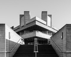 London Visit 2017 - National Theatre (benjaminjohnson1983) Tags: 2017 abstract architecture blackwhite brutalist concrete denyslasdunpartners flickr geometry lines london londonvisit2017dec nationaltheater shapes southbank stairs symmetry triangle