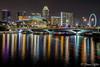 city lights on the river (funtor) Tags: river singapore night light color building bridge skyline