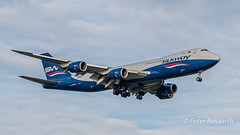 VQ-BVC  Boeing 747-8F - Silk Way West Airlines (Peter Beljaards) Tags: aviationphotography schiphol amsterdam boeing7478f silkwaywestairlines vqbvc nikond5500 final landing
