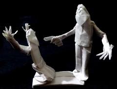 ORIGAMI - MADMAN WITH A GUN (Neelesh K) Tags: origami man with gun terrorism violence school shootings control neeleshk 32 grids boxpleating