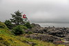 At The End Of The Trail (joeinpenticton Thank you 1.9 Million + views) Tags: ucluelet lighthouse bc british columbia vancouver island garcia joeinpenticton amphitrite point walking trail light house building pacific ocean cloud clouds cloudy mood moody fog horn foggy joe jose beacon