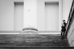 IMG_2224 (TANDRASPHOTOS) Tags: nationalmuseum steps alone streetphoto blackandwhite newspaper lines