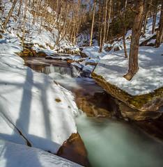 Winter Flow In Bear Hole Brook (John Kocijanski) Tags: forest trees shadows water longexposure leebigstopper nature landscape brook stream canon1740mmllens canon5dmkii snow winter