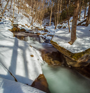 Winter Flow In Bear Hole Brook
