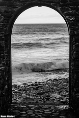 Ocean Frame (Mauro Hilário) Tags: blackwhite artistic madeira ocean sea arch waves portugal window ruins abandoned