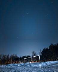 Triplets (thom1331) Tags: sky blue goal stars three winter art snow cold night