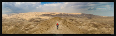 On top of the world (Ilan Shacham) Tags: mountainbiking mountainbike mtb adventure desert judeandesert singletrack enduro fun wanderlust pano panorama landscape view scenic beauty nature awe fineart fineartphotography israel