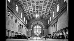 Union Station (photauGRaF) Tags: waiting hall building architecture bw train union toronto