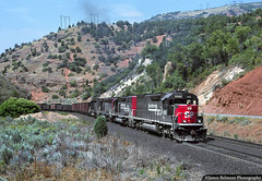 Espee in the Red Narrows (jamesbelmont) Tags: southernpacific rednarrows spanishforkcanyon utah emd sd45t2 riogrande drgw rvasm railway